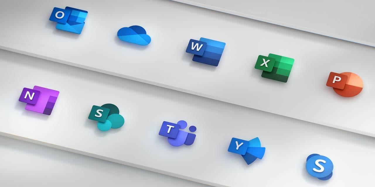 Nieuwe iconen van Microsoft