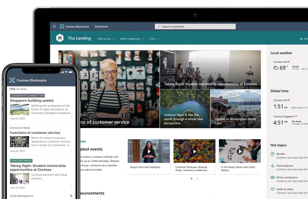 Zo ziet SharePoint eruit